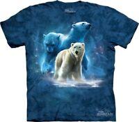 Polar Collage T-Shirt by The Mountain. Polar Bear Arctic Ocean Sizes S-5XL NEW