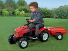 Ride On Pedal Tractor And Trailer Set in Red - Kids indoor & Outdoor Tractor Set