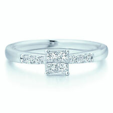 Wedding Halo Excellent Cut White Gold Fine Diamond Rings