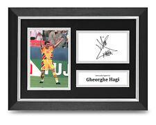 Gheorghe Hagi Signed A4 Photo Framed Display Romania Memorabilia Autograph COA