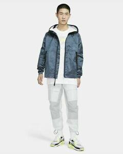 Nike Teck Tech Pack Sportswear Woven Hooded Jacket Ocean Blue CU3758-458 NSW