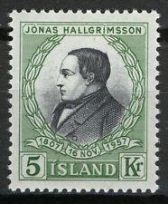 Iceland 1957, 5 Kr 150th birthday of Jónas Hallgrimsson VF MNH, Mi 322