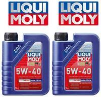SEMI SYNTHETIC SAE 5W-40 DIESEL MOTOR OIL LIQUI MOLY 1L 2 Two Bottles HIGH TECH