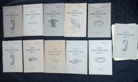 11 Bulletins du Muséum d'Histoire Naturelle 1941-1950