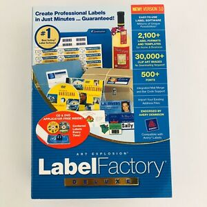 New Art Explosion Label Factory Deluxe Version 3.0 for Windows
