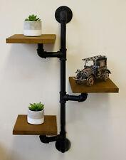 Wood & Pipe Shelving Unit Shelf Wooden Wall Mounted Shelves Storage Unit Decor