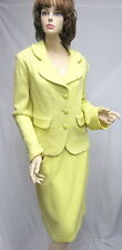 St John Knit COLLECTION NWT Lemonade Yellow Jacket Skirt SUIT SZ 16 $2390
