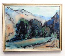 Walter Wohlfeld 1957 Aquarell Gemälde Landschaft in Berliner Leiste