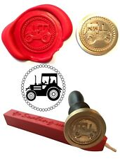 Wax Stamp, TRACTOR Farm Coin Seal and Red Wax Stick XWSC228-KIT
