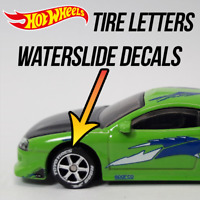 Hot Wheels Tire Letters Custom WaterSlide White Toner Decals