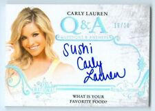 "CARLY LAUREN ""Q & A FAVORITE FOOD SUSHI AUTOGRAPH /20"" BENCHWARMER NATIONAL 2014"