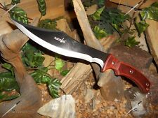 Survivor/Bowie/Knife/Blade/Full tang/Wood grip/Combat/Survival/Fantasy