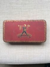 Vintage Jacob's Cream Crackers Sample Tin, red with Herald logo. Good Condition