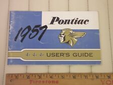 1957 Pontiac Owners Glove Box Manual CDN Original