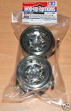 Tamiya 54493 CR-01 Metal Plated Pentagram Wheels (Offset +5, 2 Pcs) CR01/Crawler