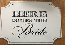 "2 Sided Sayings ""Here Comes the Bride""and ""Just Married "" Wedding Sign - 14"" W"
