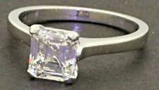 GIA Platinum 1.52CT VS Emerald cut diamond solitaire wedding/engagement ring
