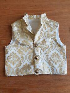 Regency Style Little Boy's Waistcoat In Gold Brocade