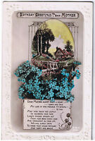 Birthday Greetings To Dear Mother - Vintage  Postcard - Floral Design