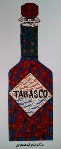 """Howard Finster's  """"Tabasco Bottle"""" Print"""
