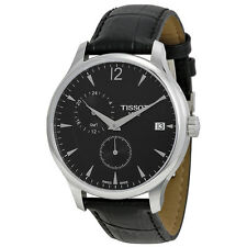 Tissot Tradition GMT Black Dial Stainless Steel Mens Watch T0636391605700