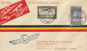 Belgisch Kongo - 1936 - alter Luftpostbrief - echt gelaufen