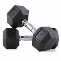 20kg Exercise Hex Dumbbells Weight Set Fitness Strength Bicep Home Gym Training