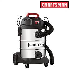 Craftsman 8 Gallon Stainless Steel 4 Peak HP Wet/Dry Vac / Wet-Dry Vacuums - NEW