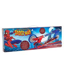 KIDS CHILDREN NEW MARVEL ULTIMATE SPIDER MAN ADJUSTABLE FOLDING SCOOTER 2 WHEEL