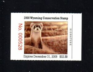 WYOMING  WY25   WILDLIFE CONSERVATION  STAMP   2008    MNH