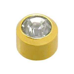 Caflon Ear Piercing Earrings April Gold Birthstone x 12 ( new & original)