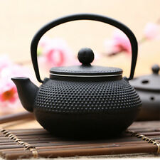 300ml Black Hobnail Tetsubin Kettle Janpan Cast Iron Tea pot Infuser Teapot