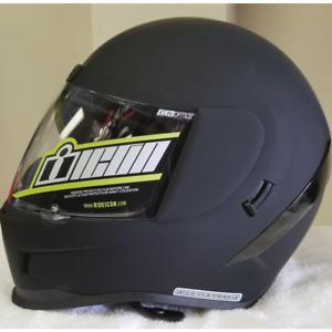 Icon Airform Rubatone Motorcycle Helmet Black Large DOT ECE Matte Black