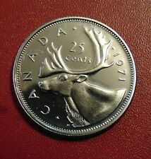 1971 CANADA quarter dollar twenty five 25 cents cent piece coin PL Proof Like
