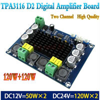 12V-24V TPA3116 D2 120W+120W Dual-channel Stereo Digital Audio Power Amplif-P Pf