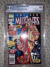 New Mutants #98  Deadpool 1st Appearance Marvel 1991 Newsstand CGC Graded 8.0