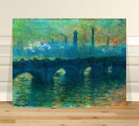 "Claude Monet Bridge in Venice ~ FINE ART CANVAS PRINT 36x24"""