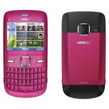 New Nokia C3-00 Pink Unlocked Genuine Sim Free Mobile Phone With Warranty