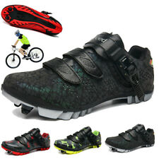 Mens Cycling Shoes Outdoor MTB Bicycle Sneakers Self-Locking Mountain Bike Shoes