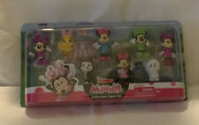 """Minnie Mouse 8 Piece Collectible Figure Set Disney Junior 2.25"""" Tall Characters"""