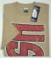 New w/ Tags Hustle Brand Mens M  2X 3X Short Sleeve T-Shirt Tan Hustle NWT