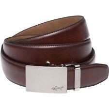 Greg Norman Mens Belt W/ Plaque Buckle