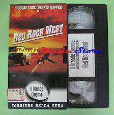 film VHS cartonata RED ROCK WEST Nicolas Cage Hopper CORRIERE SERA (F75) no dvd*