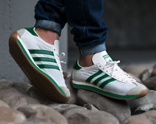 BNWB & Genuine adidas originals ® Country OG Trainers in White Green UK Size 10