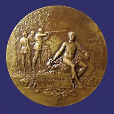 Beautiful Art Nouveau French Shooting Medal by Henri Dubois