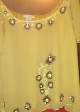 Womens plus size 32 -34w2 pc. Gold suit. By romans. With sequins. Stitching nwot