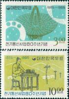 Korea South 1965 SG605-606 Telecommunications set MNH