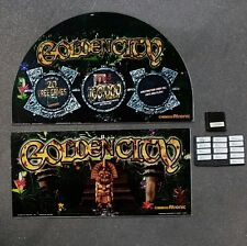 Atronic Cashline Slot Machine GOLDEN CITY Round Top Glass Kit Set with Software