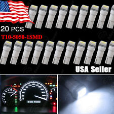 20X T5 Wedge Cool White 5050 1-SMD LED Dashboard Instrument Panel Lights 17 2721
