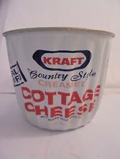 RARE 1 LB KRAFT SMALL CURD COTTAGE CHEESE CONTAINER ( ALLUMINUM RIBBOWL NO LID )